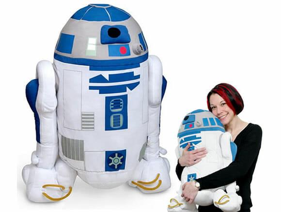 R2-D2 de pelúcia é bem legal!