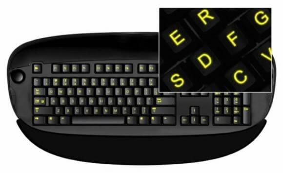 Glow In Dark são adesivos que fazem seu teclado brilhar no escuro