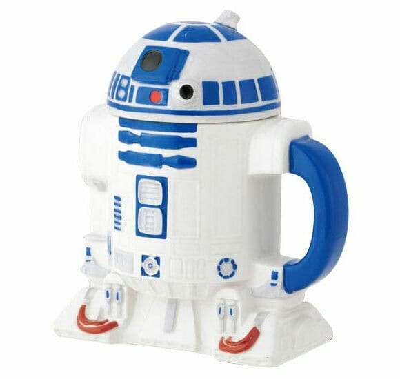 Garrafa de café do R2-D2. Vai um café intergaláctico aí?