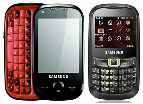 Samsung apresenta seus novos celulares Corby TXT e PRO