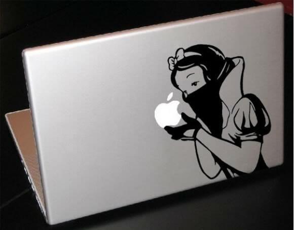 Adesivos da Branca de Neve para enfeitar seu Macbook!