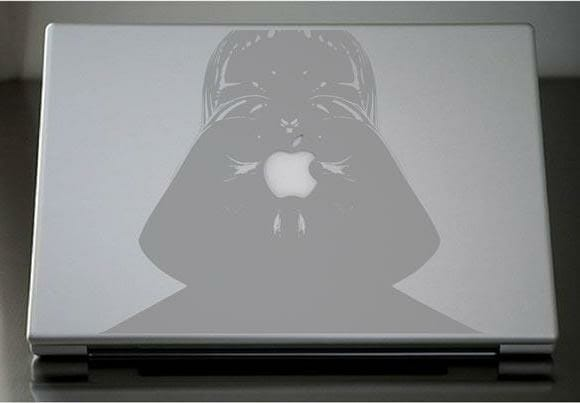 Adesivos para MacBook do Darth Vader