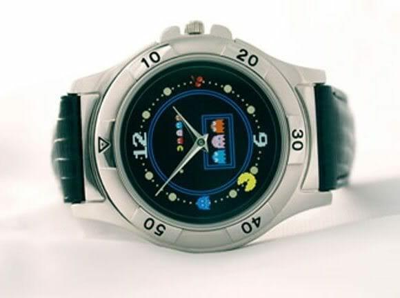 Relógio de pulso do Pac Man.
