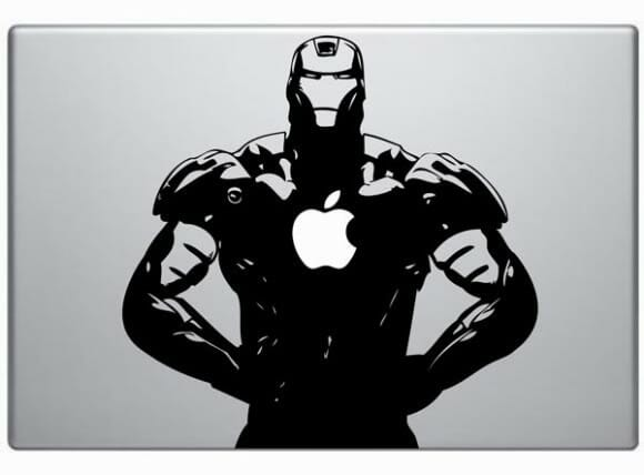 Adesivos para MacBook do Iron Man