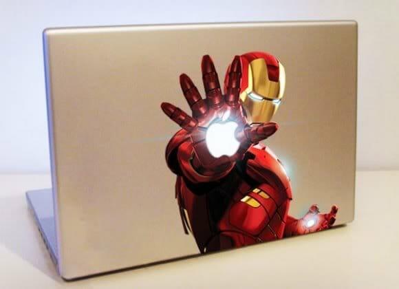 Adesivo para MacBook Iron Man colorido