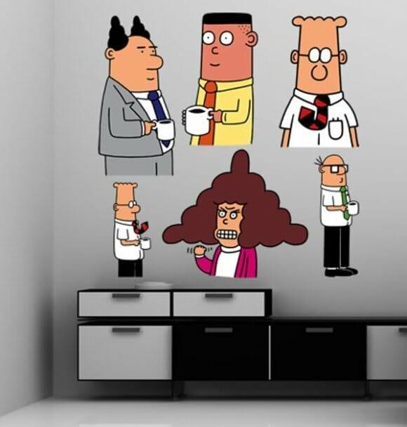 Decore seu escritório com Adesivos do Dilbert!