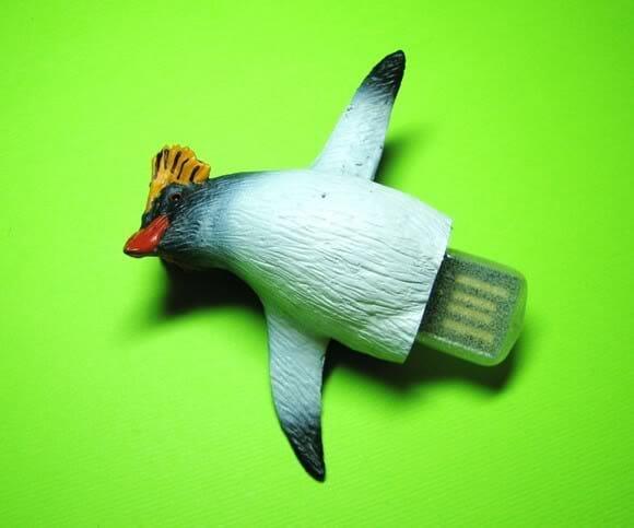 Pen Drive em forma de Pinguim e Ornitorrinco