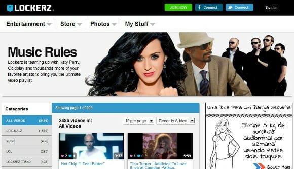 Site oferece prêmios para quem assiste seus vídeos.