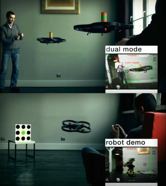 Um Fantástico Game de Quadricópteros com Realidade Aumentada. (vídeo)
