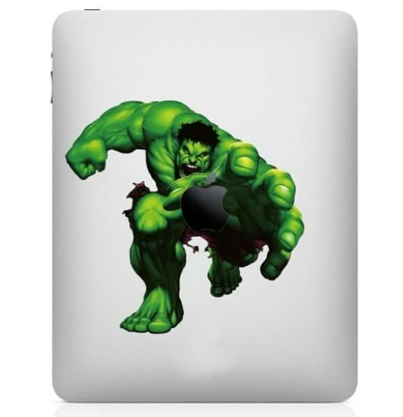 Adesivos para iPad e MacBook do Incrível Hulk