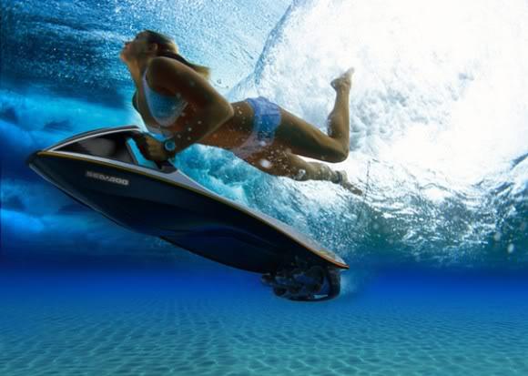 Nova prancha de Body Board elétrica pode ser usada até debaixo d'água!