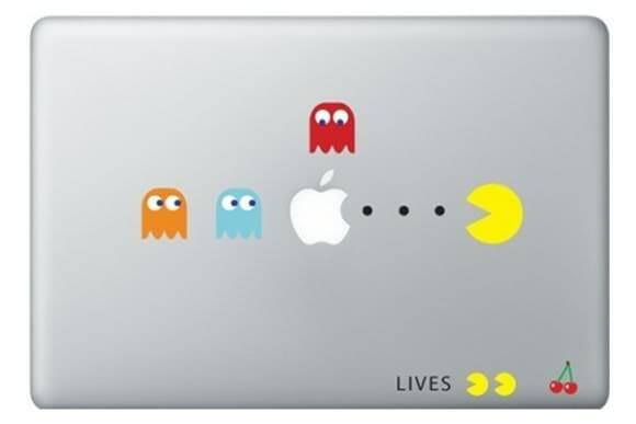 Adesivo do Pac-Man para MacBook