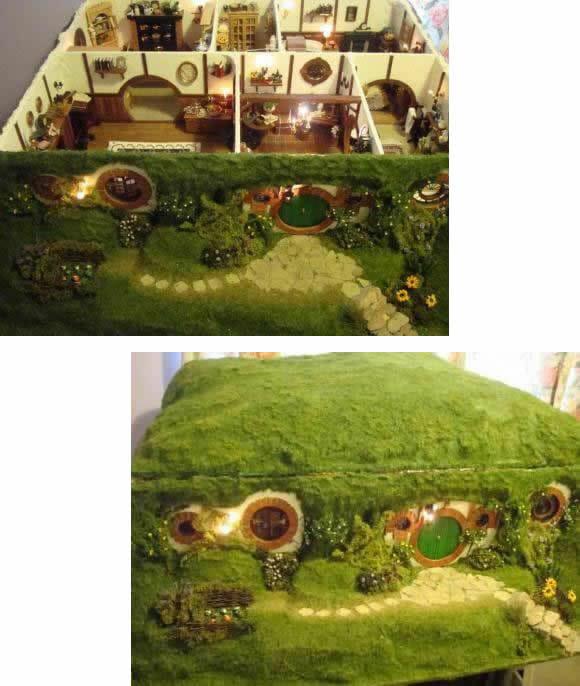 Maquete de Casa Hobbit