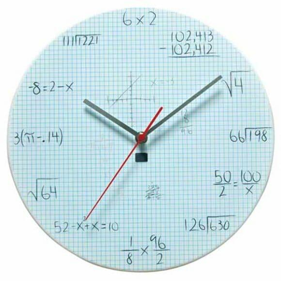 Pop Quiz Clock - O relógio dos que precisam de reforço nas aulas de cálculo.