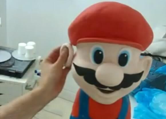 O Super Bolo do Super Mario. (com vídeo)
