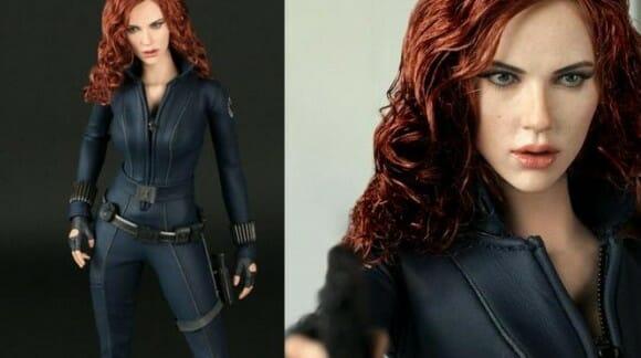 Action Figure da Viúva Negra do filme Iron Man 2 - Parece real mas é de brinquedo.