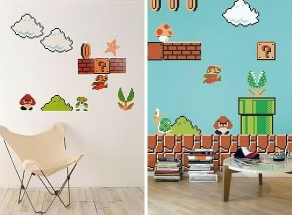 Adesivos de parede do Super Mario