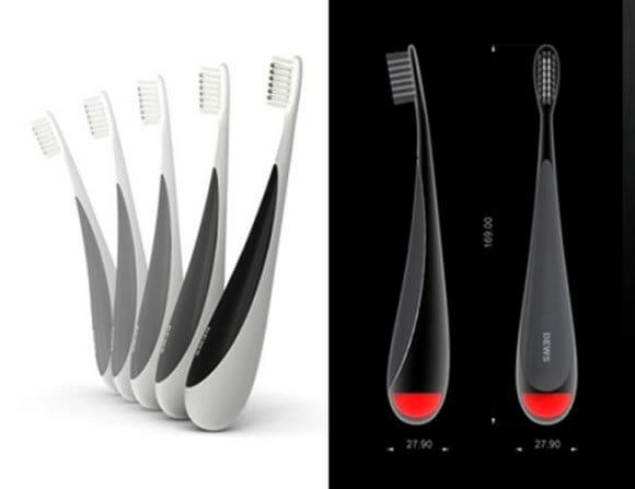 Escovas de dente que param em pé