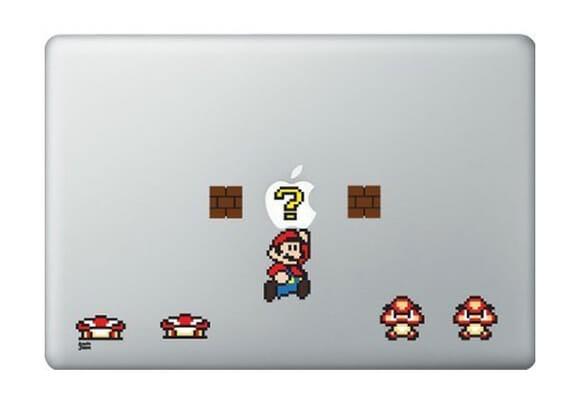 Adesivos do Super Mario para MacBook e iPad