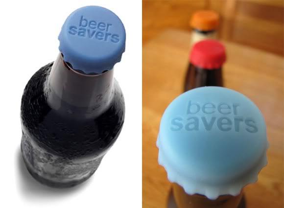 Beer Savers - Tampas de silicone feitas para identificar e proteger o conteúdo de suas garrafas