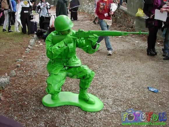 FOTOFUN - Cosplay Soldadinho de Plástico Verde