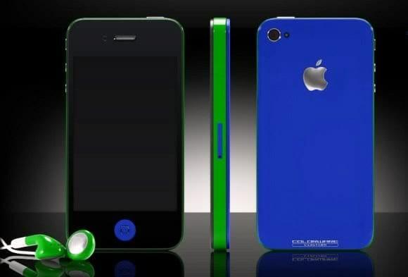 iPhone 4 pode ser personalizado com diversas cores diferentes.