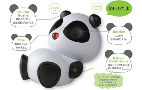 Speaker de Urso Panda para meninas geeks.