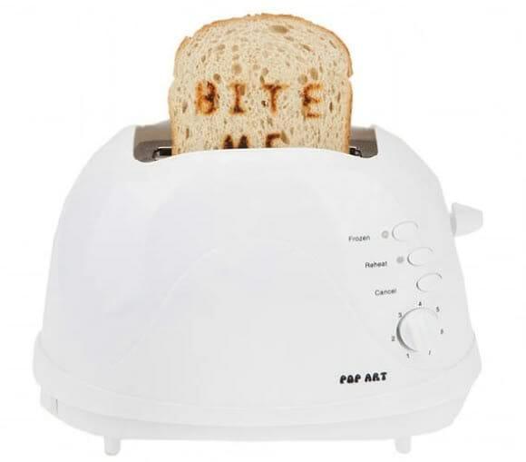 Bite Me Pop - Uma torradeira impressora pra animar o café da manhã!