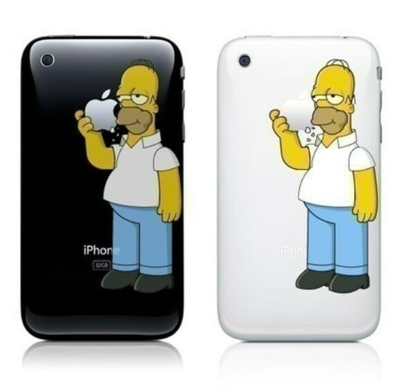 Adesivo do Homer Simpson para iPhone