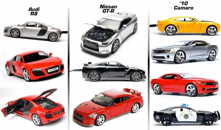 Flash Rods – Pen drives construídos à partir de carrinhos de brinquedo.