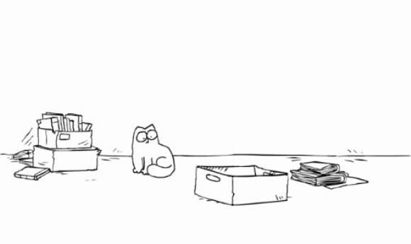 VIDEOFUN - O gato Simon e a caixa.