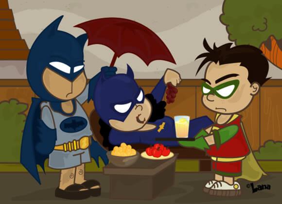 Super Heróis em atos não tão heróicos assim