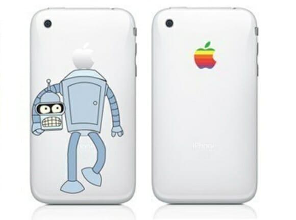 Adesivo do Bender para iPhone