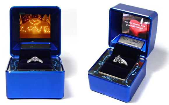 Caixa de anel multimídia permite fazer um pedido de casamento hi-tech!