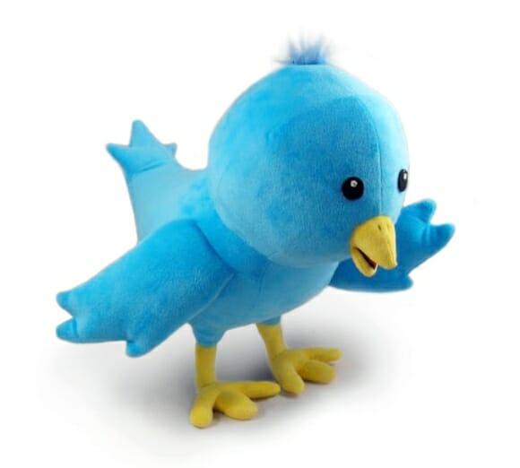 Pássaro do Twitter de Pelúcia!