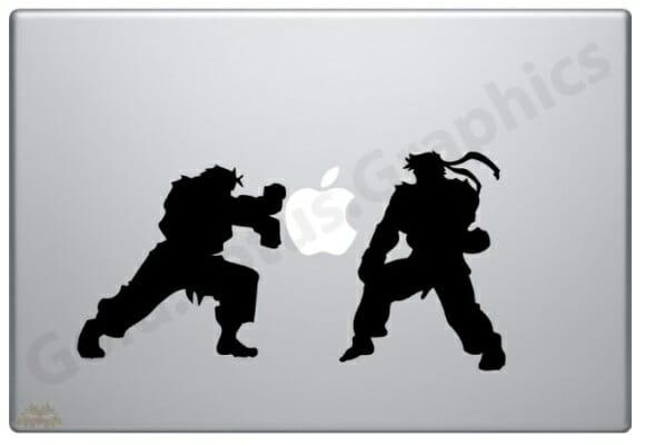 Adesivo para MacBook Ryu vs Ken – Hadoukeeeen!