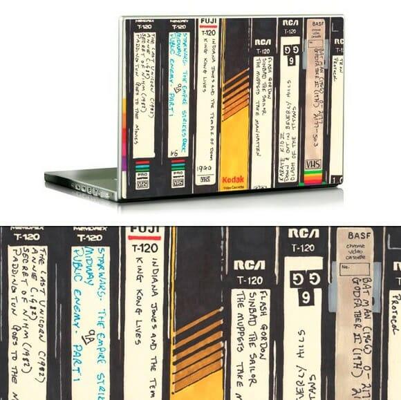 Adesivos para Notebooks com imagens de fitas VHS