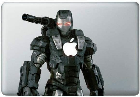 Adesivo do War Machine para MacBook.