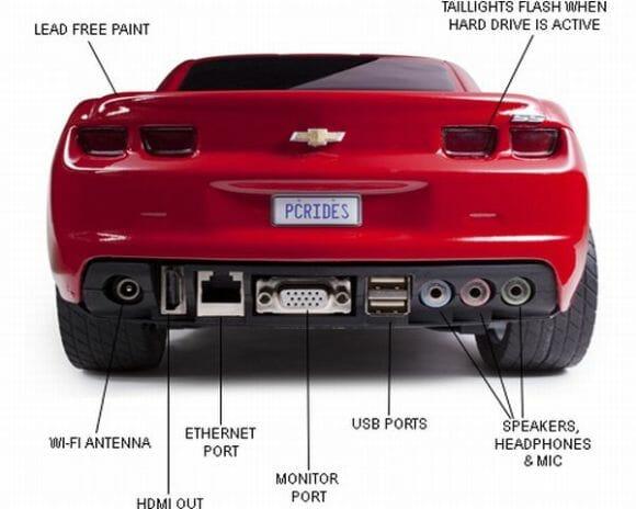 Casemod e PC em forma de Camaro para apaixonados por carros e computadores