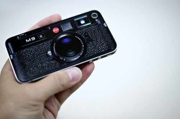Adesivo transforma iPhone em uma câmera digital Leica M9