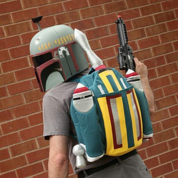 Mochila do Boba Fett para fãs de Star Wars.