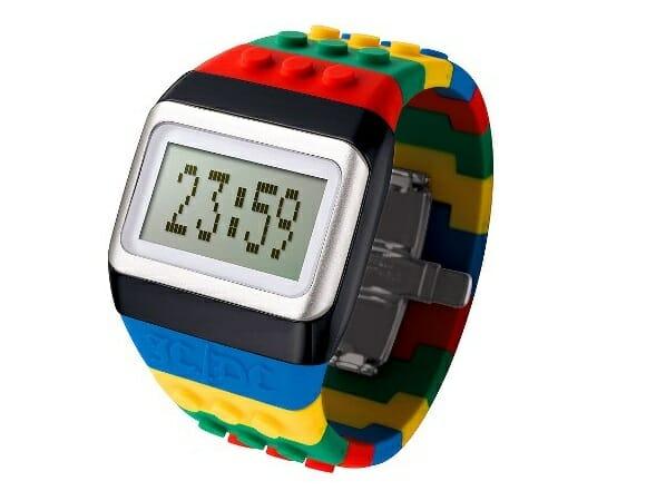 Relógios de pulso inspirados em LEGO.