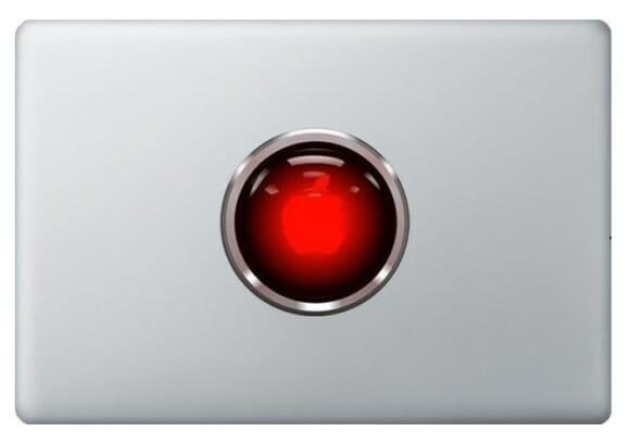 Adesivo para MacBook HAL 9000.