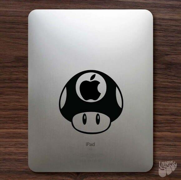 Adesivo para iPad e MacBook Mario Bros Mushroom