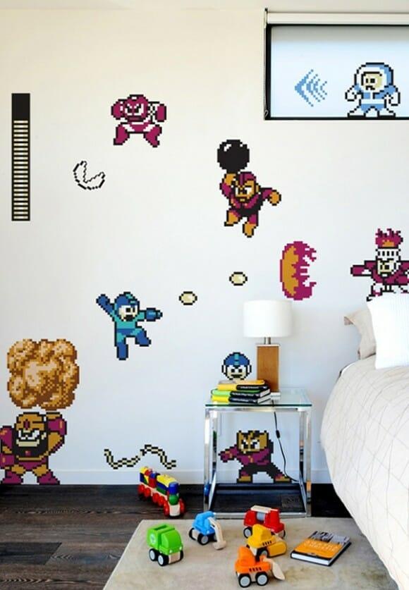 Adesivos de parede do Megaman.