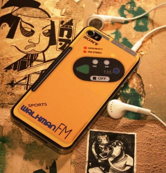 Adesivo Walkman Sony para deixar seu iPhone 4 com estilo retrô