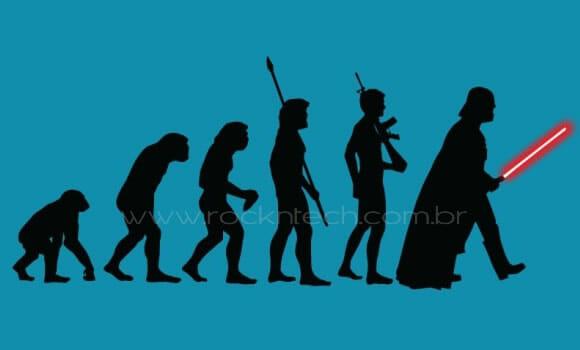 Camiseta para fãs de Star Wars - A Evolução da Força.