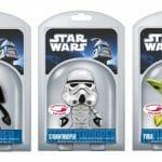 Novos fones de ouvido retráteis da Funko com personagens do filme Star Wars. Cool!