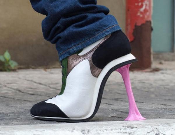 Sapato com salto chiclete. Hein?!?