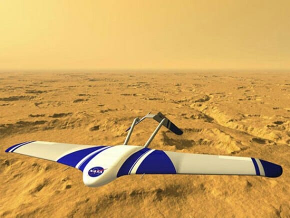 NASA pretende enviar aviões robôs ultra velozes para explorar a superfície de Marte.